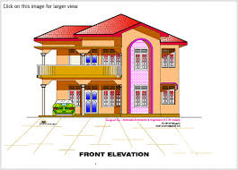 House Plans With Elevations And Floor Plans 2d Elevation And Floor Plan Of 2633 Sq Feet House Design Plans