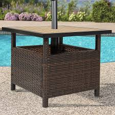 Outdoor Table Umbrella Amazon Com Best Choice Products Patio Umbrella Stand Wicker