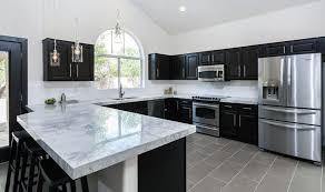 black kitchen cabinets with white countertop beautiful black kitchen cabinets design ideas designing idea