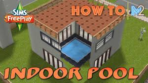 Interior Swimming Pool Houses Sims Freeplay How To Build An Indoor Pool Or Garden Tutorial