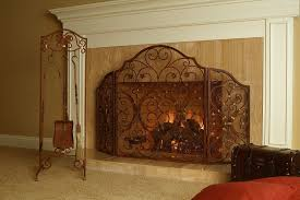 Free Standing Fireplace Screens by Sunflower Fireplace Screen On Custom Fireplace Quality Electric