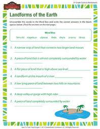 landforms of the earth u2013 printable online 6th grade worksheets