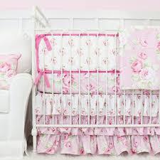 Roses Crib Bedding Shabby Chic Roses Ruffle Baby Beddling Caden
