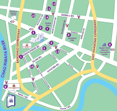 bangkok map tourist attractions the montien hotel bangkok