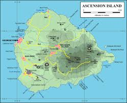 ascension islands map ascension island topography