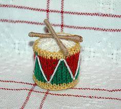 drum knitting pattern knitted mini stockings garland gift card holder christmas