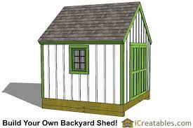 How To Build A Small Storage Shed by 10x10 Shed Plans Storage Sheds U0026 Small Horse Barn Designs