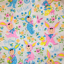 easter wrapping paper bunny kids vintage wrapping paper gift by holidaykitschklatsch