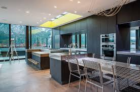 cing kitchen ideas modern black kitchen ideas chrome chairs yellow wide fixed