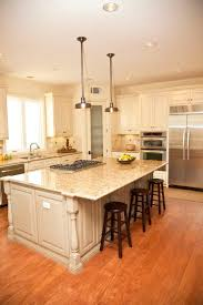 awesome kitchen designs with islands countertops garbage bin small