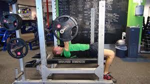 Straight Bench Press Bench Press Fitness Institute