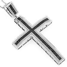 diamond cross heart necklace images 207 best black diamond cross necklace images jpg
