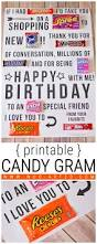 candy gram birthday card printable