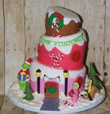 topsy turvy grinch in whoville birthday cake cake by