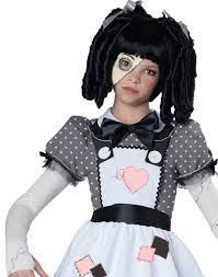 halloween doll wig haunted doll child halloween costume walmart com
