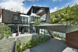 Modern Urban Home Design Sqm Modern One Story Affordable House With Narrow Lot Motorcycle