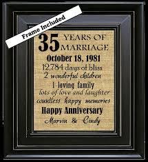 35th wedding anniversary gift 35th wedding anniversary gifts for gift ideas bethmaru