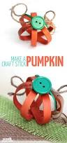 Halloween Pumpkin Crafts Craft Stick Pumpkin