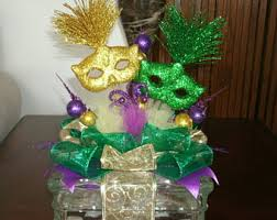mardi gras home decor mardi gras centerpiece etsy