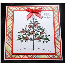 poinsettia tree poinsettia tree on tartan s cards