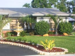 Florida Home Design Garden Design With Simple Landscape For Front Of House Landscaping