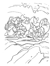 snowwhite coloring pages