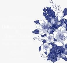 vector blue flowers wedding invitations blue flowers wedding