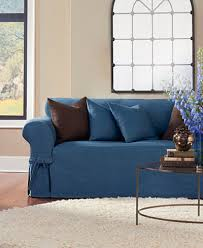 sure fit denim sofa slipcover sure fit authentic denim slipcover collection slipcovers home
