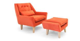 Coral Ottoman Stuart Chair Ottoman Plush Coral Kardiel