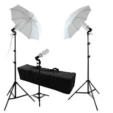 Photography Lighting 600w 3x 45w Photography Lighting Kit With 2x White Shoot Thru