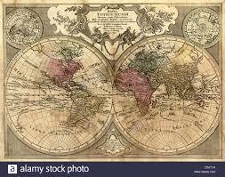 Antique World Map by Mappa Totius Mundi Antique World Map By Guillaume De L U0027isle