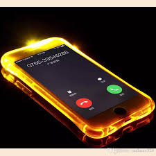 cheap tpu pc led flash light up remind incoming call cover