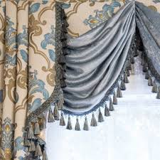 Austrian Shades Ready Made by Luxury Swags And Tails Valance Curtain Drapes