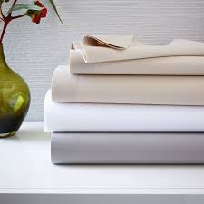 400 thread count organic cotton percale sheet set west elm