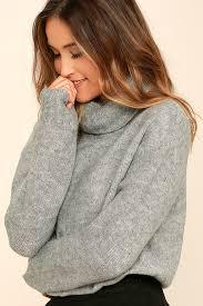 turtle neck sweaters cozy grey top turtleneck sweater knit sweater 72 00