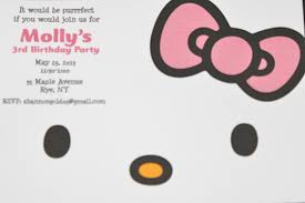 Hello Kitty Invitation Card Maker Free Hello Kitty Birthday Party Partying With The Princesses