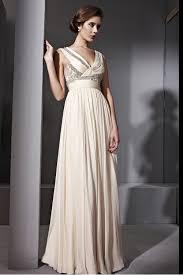 couture cream v neck woven evening dress 6811003