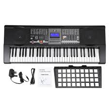 61 keys multifunctional lcd display digital keyboard electric