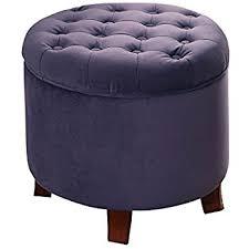 Purple Storage Ottoman Kinfine Velvet Tufted Storage Ottoman With