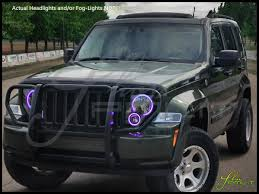 red jeep liberty 2005 oracle 08 13 jeep liberty led dual color halo rings headlights bulbs