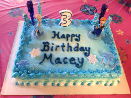ordered an ice cream cake from dairy queen decorated it 15 min