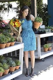 emmy rossum banana republic issa london blue ceramic dress the