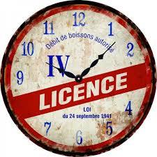 pendule originale pour cuisine horloge licence iv déco rétro vintage provence arômes tendance sud