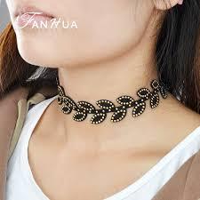 black rope choker necklace images Velvet choker gothic black rope choker boho necklace indian jpg