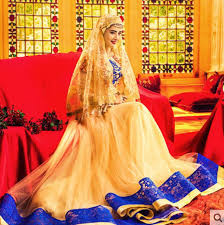 muslim wedding dresses gold muslim wedding dress lace embroidery details with