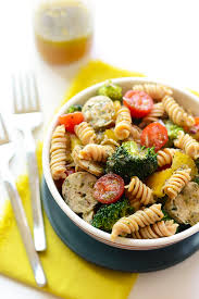 quinoa pasta salad with chicken sausage fit foodie finds