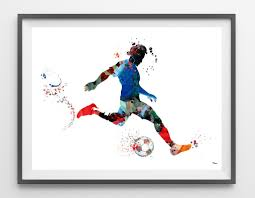 soccer player watercolor print by mimiprints u2013 mimiprints