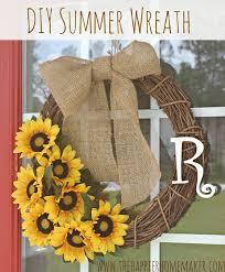 sunflower wreath diy summer wreath and announcement the happier homemaker
