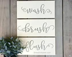 Art For Bathroom Bathroom Rules Wall Art Wash Brush Flush Rustic Bathroom