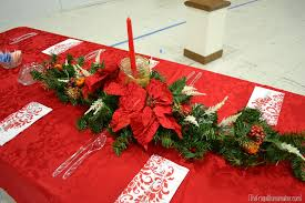 christmas decor for center table christmas dinner table ideas from our church s christmas dinner